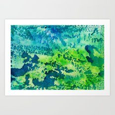 Below the Deep Art Print
