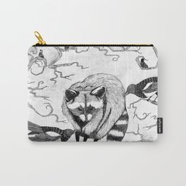 Magpie and Raccoon Carry-All Pouch
