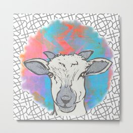 Sheep Spot Metal Print