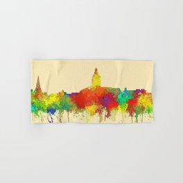 Annapolis city sky line watercolor -2 Hand & Bath Towel