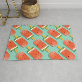 Watermelon Popsicles Pattern #society6 #decor #buyart Rug