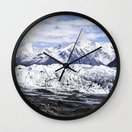 Matanusk Glacier Alaska Wall Clock