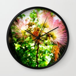 Mimosa Flower Wall Clock