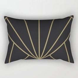 Diamond Series Sun Burst Gold on Charcoal Rectangular Pillow