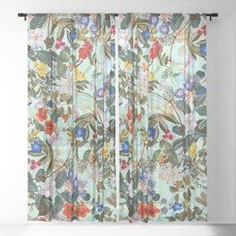 Summer Botanical Garden XVI Sheer Curtain