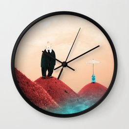 Time Rabbit and Life's water Wall Clock
