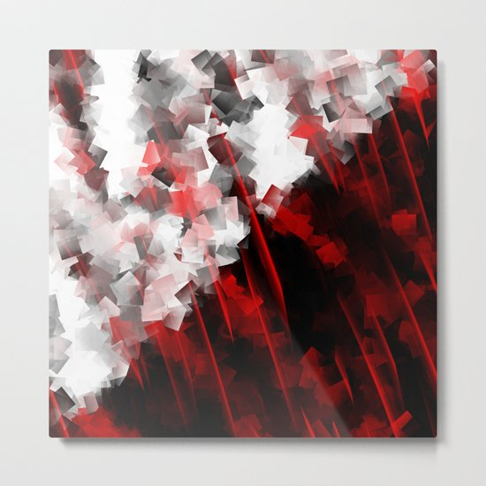 black and white meets red Version 6 Metal Print