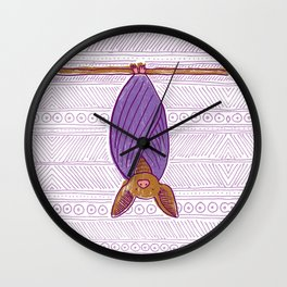We Have Bats in Our Loft Wall Clock