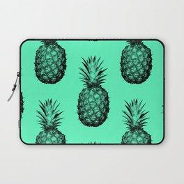 Pineapple! Black on mint green Laptop Sleeve