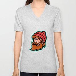 Paul Bunyan Lumberjack Mascot Unisex V-Neck