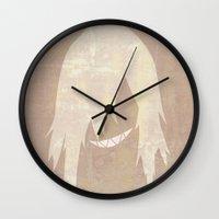 gurren lagann Wall Clocks featuring Minimalist Viral by 5eth