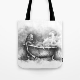 The Long Day at the Docks Tote Bag