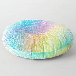rainbow glitter Floor Pillow