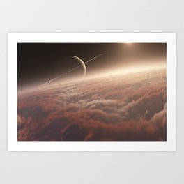 Titan: in the Bonestellosphere Art Print
