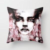 kenzo Throw Pillows featuring BLUR by Ismael Aguilar Bonet