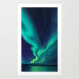 Aurora Borealis Lights Up the Sky (Northern Lights) Art Print