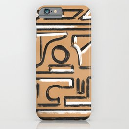 Black and white on Kraft paper earth texture iPhone Case