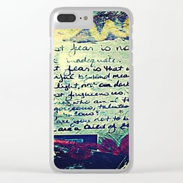 The Fire Next Time Clear iPhone Case