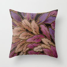 Coloured Leaves Throw Pillow