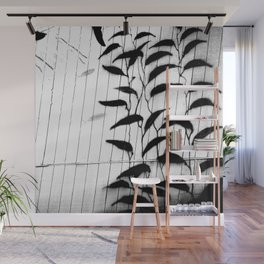 Kelp Wall in Black and White Wall Mural