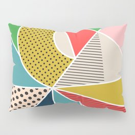 color segments 002 Pillow Sham