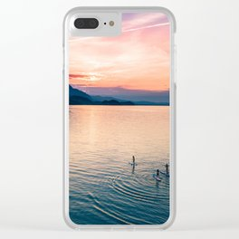 SUP Sunset Clear iPhone Case