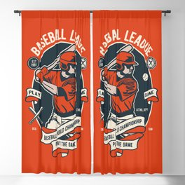 BASEBALL LEAGUE - Baseball World Championship Blackout Curtain