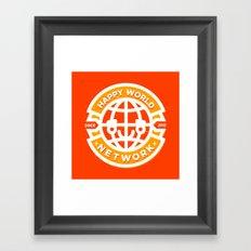 HAPPY WORLD NEWS NETWORK Framed Art Print