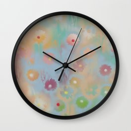 Pastel Daisies Wall Clock
