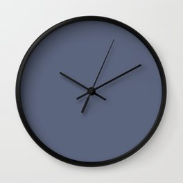 Vintage New England Shaker Village Dark Soldier Blue Milk Paint Wall Clock