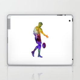 Rugby man player 02 in watercolor Laptop & iPad Skin