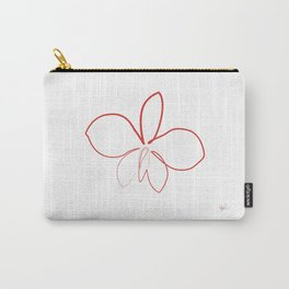 Flower A one line Carry-All Pouch