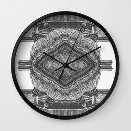 Architecture navajo b&w Wall Clock