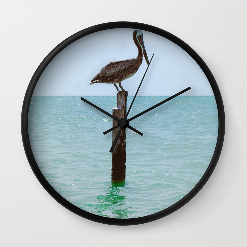 Beach Themed Clock Pelican Beach Clock