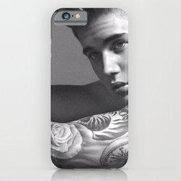 JB, singer Justin Drew Biebe eyes, close up- anyone poster iPhone Case