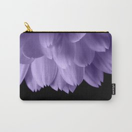 Ultra violet purple flower petals black Carry-All Pouch