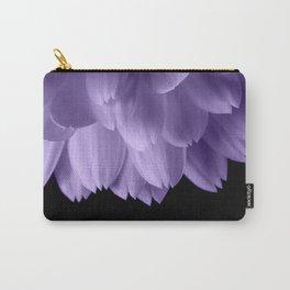 Ultra violet purple flower petals black Carry-All Pouch