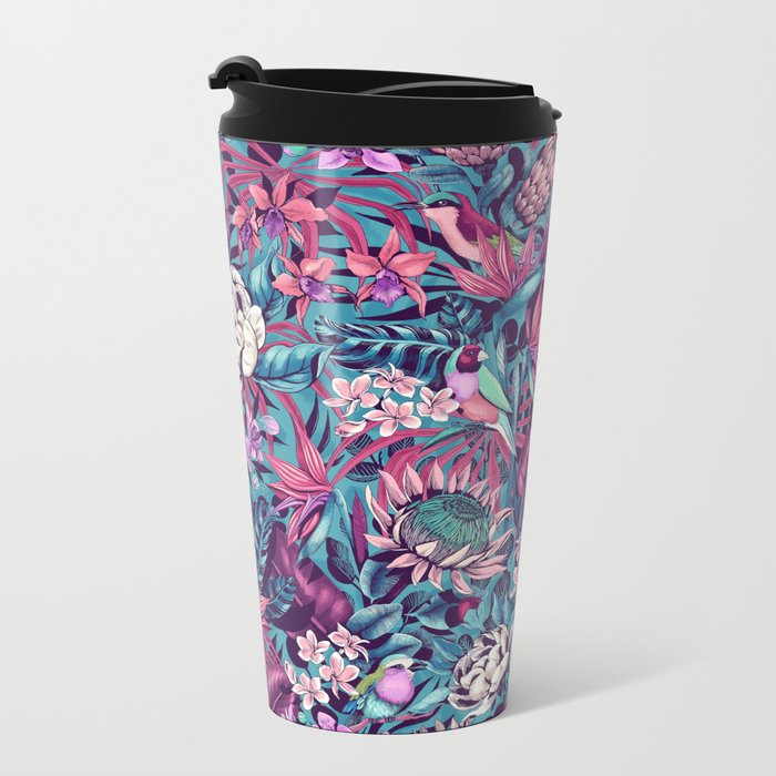 Stand Out! (electric blue) Metal Travel Mug