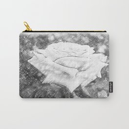 Pink Roses in Anzures 6 Charcoal Carry-All Pouch