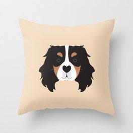 Cavalier king charles spaniel dog Throw Pillow
