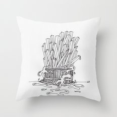 Eat Some Cheese Fries Throw Pillow