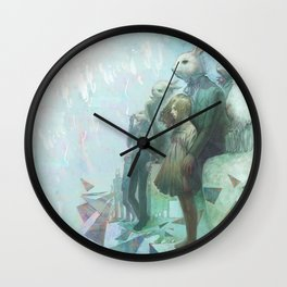 The Rabbits Are Here Wall Clock