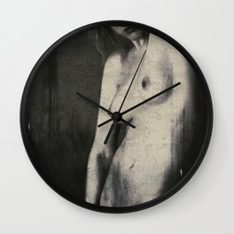 The Naked violent energy - art nude photo Wall Clock