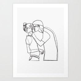 Couple Kiss Art Print