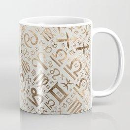 Zodiac symbol glyphs pastel gold Coffee Mug