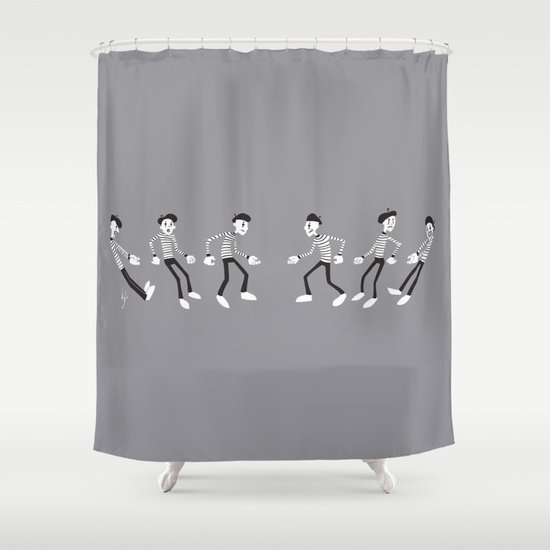 Mime VS Mime: Tug Of War Shower Curtain