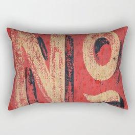 Bold No Rectangular Pillow
