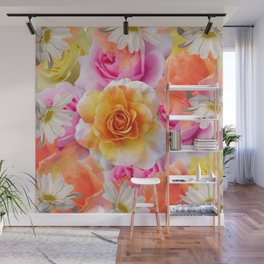 Spring Flowers Galore Absstract Wall Mural