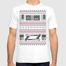 Old School Sweater Mens Fitted Tee SMALL White