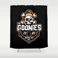goonies Shower Curtains featuring The Goonies by Buby87